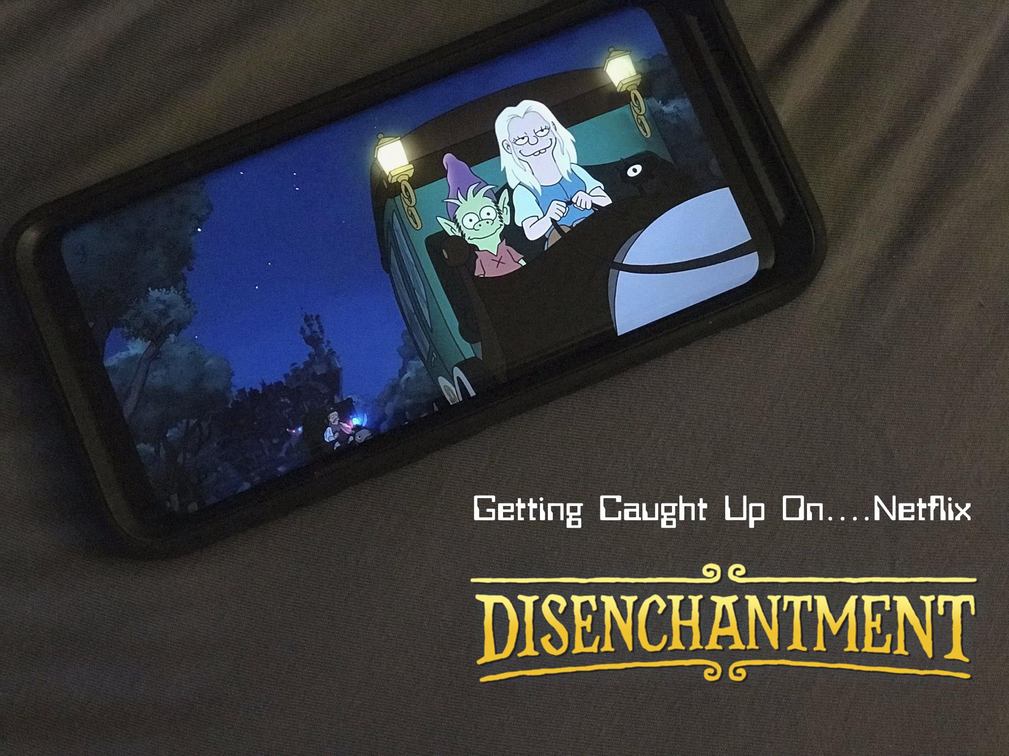 disenchantment on phone